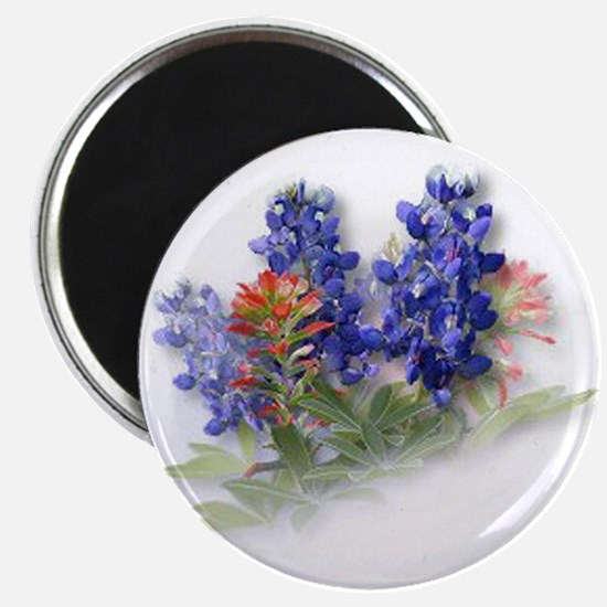 Bluebonnets with Indian Paint Magnet