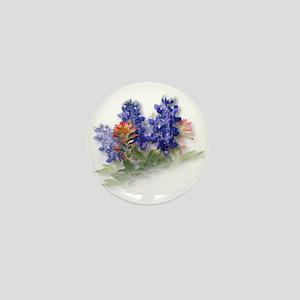 Bluebonnets with Indian Paint Mini Button