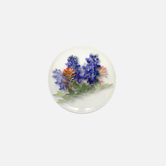 Bluebonnets with Indian Paint Mini Button