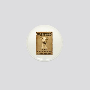 """Wanted"" Greyhound Mini Button"