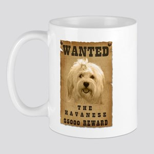 """Wanted"" Havanese Mug"