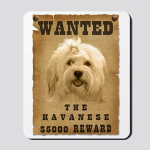"""Wanted"" Havanese Mousepad"