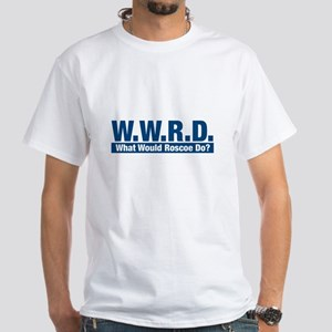 WWRD What Would Roscoe Do? White T-Shirt