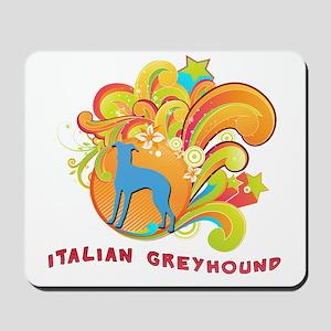 Groovy Italian Greyhound Mousepad