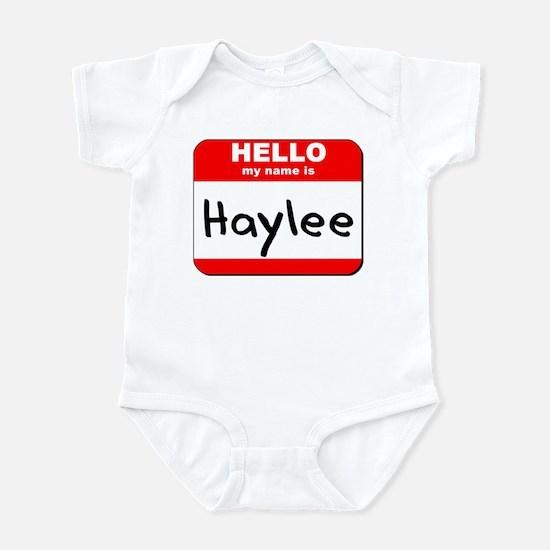 Hello my name is Haylee Infant Bodysuit