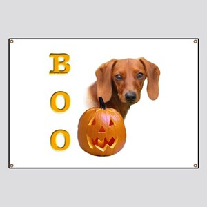 Smooth Dachshund Boo Banner