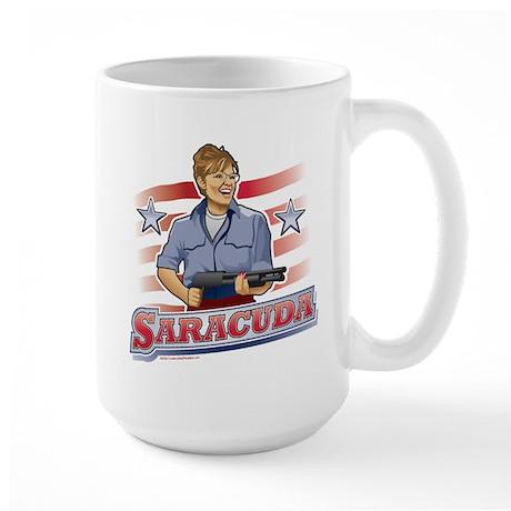 Saracuda, Gun Slinging Sarah Palin Large Mug