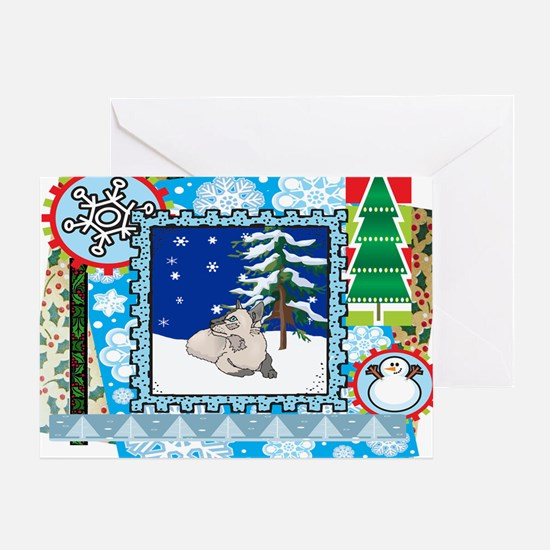 Scrapbook Siamese Christmas Greeting Card