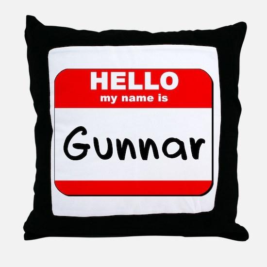 Hello my name is Gunnar Throw Pillow
