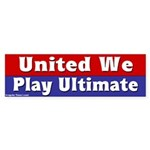 United We Play Ultimate (car sticker)