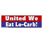 United We Eat Low-Carb bumper sticker