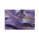 Purple Madness Art Rectangle Magnet