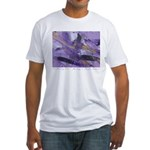 Purple Madness Art Fitted T-Shirt