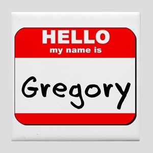 Hello my name is Gregory Tile Coaster