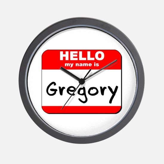 Hello my name is Gregory Wall Clock