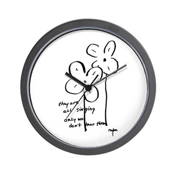 'They Are All Singing' Wall Clock