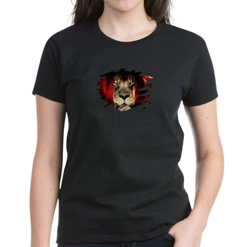Peru Flag & African Lion Picture Per T-Shirt