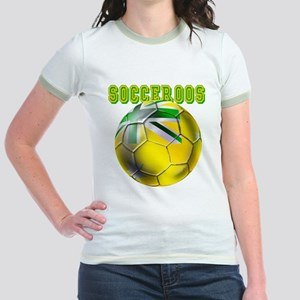 Socceroos Football Jr. Ringer T-Shirt