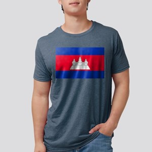 Flag of Cambodia Mens Tri-blend T-Shirt