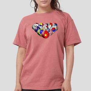 World Soccer Balls Womens Comfort Colors® Shirt