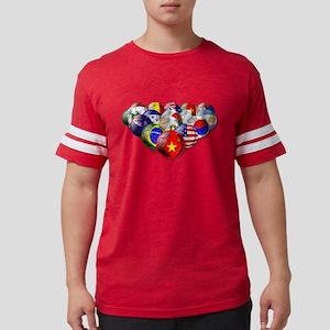 World Soccer Balls Mens Football Shirt