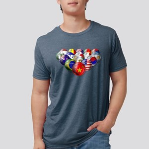 World Soccer Balls Mens Tri-blend T-Shirt