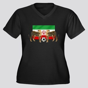 Iran Cheetahs Women's Plus Size V-Neck Dark T-Shir