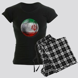 Iran Soccer Ball Women's Dark Pajamas