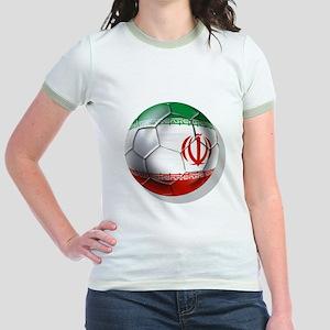 Iran Soccer Ball Jr. Ringer T-Shirt