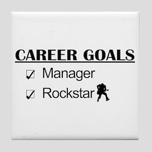 Manager Career Goals - Rockstar Tile Coaster