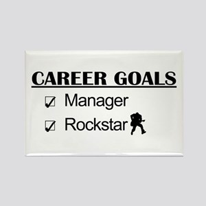 Manager Career Goals - Rockstar Rectangle Magnet