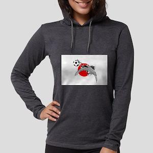 Japan Football Crane Womens Hooded Shirt