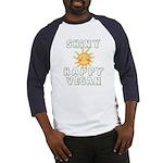 Shiny Happy Vegan Baseball Jersey