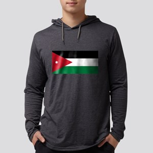 Flag of Jordan Mens Hooded Shirt