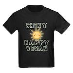 Shiny Happy Vegan Kids Dark T-Shirt