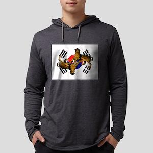 Korean Tigers Mens Hooded Shirt