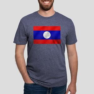 Flag of Laos Mens Tri-blend T-Shirt