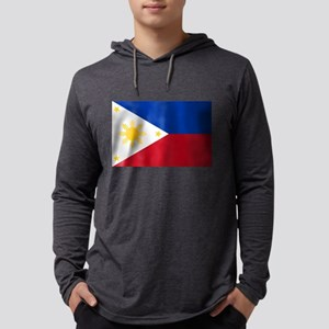 Philippines Flag Mens Hooded Shirt