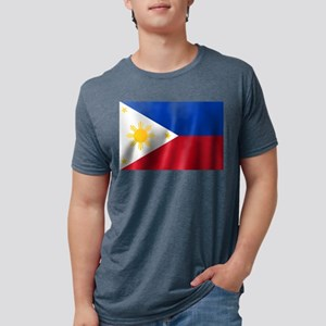 Philippines Flag Mens Tri-blend T-Shirt