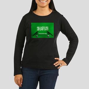 Saudi Arabia Football Flag Women's Long Sleeve Dar