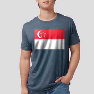 Flag of Singapore Mens Tri-blend T-Shirt