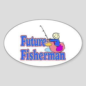 Future Fisherman Oval Sticker