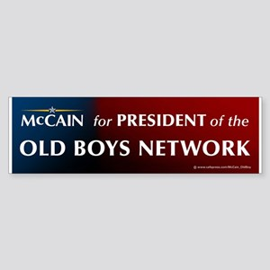 McCain for President of his old boys club Sticker