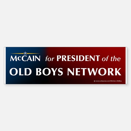 McCain for President of his old boys club Bumper Bumper Sticker