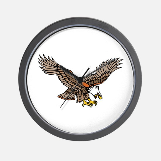 Flying Eagle Tattoo Art Wall Clock