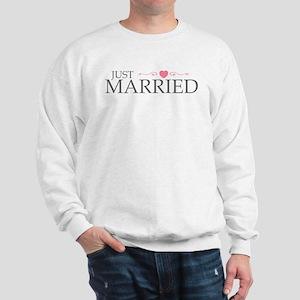 Just Married (Heart Scroll Pink) Sweatshirt