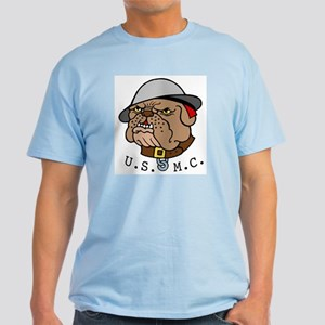 USMC Marines Bulldog Tattoo Light T-Shirt