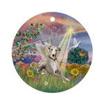 Cloud Angel and Whippet Keepsake (Round)