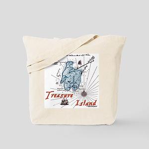 Blue Treasure Island Tote Bag