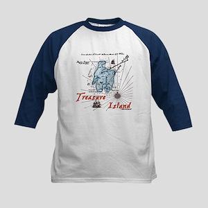 Blue Treasure Island Kids Baseball Jersey